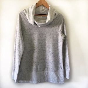 Lou & Grey Cowl Neck Soft Pullover Sweatshirt M